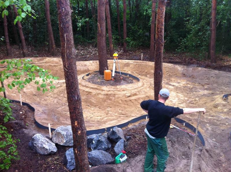 groot project aanleg tuin