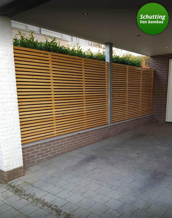 design schutting ontwerp met bamboe