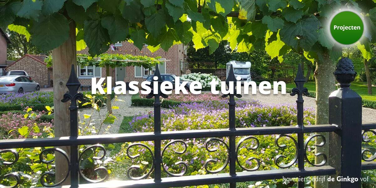 Projecten: aanleg en onderhoud van klassieke tuinen