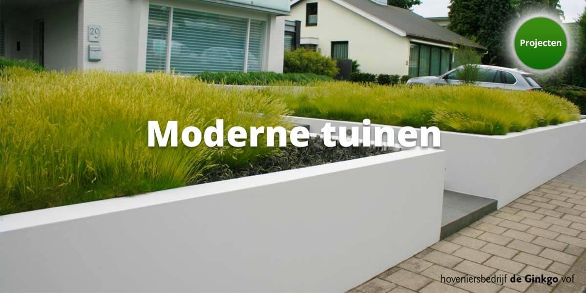 Projecten: aanleg en onderhoud van moderne tuinen