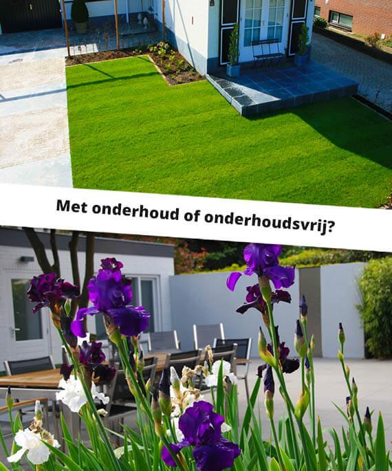 met onderhoud of onderhoudsvrije renovatie van uw tuin?
