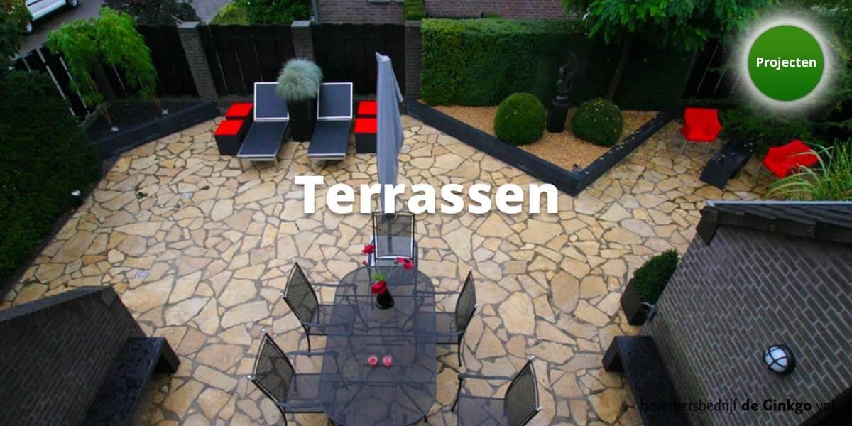 Projecten: aanleg en onderhoud van terrassen