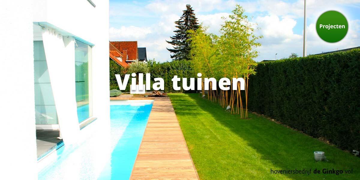 Projecten: aanleg en onderhoud van villa tuinen